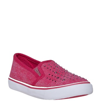 Girls' slip-on shoes with rhinestones north-star, pink , 229-5193 - 13