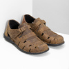 Men's brown leather sandals bata, brown , 864-4600 - 26