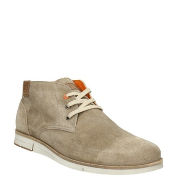 Brushed leather ankle boots weinbrenner, beige , 843-4625 - 13