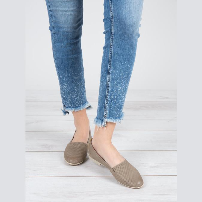Ladies´ leather Slip-ons bata, brown , 516-2602 - 18