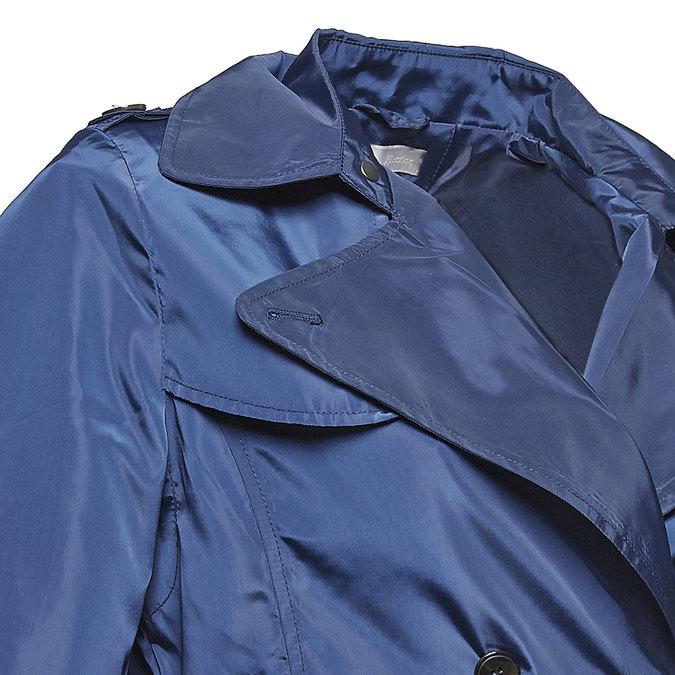 Ladies'  blue trenchcoat bata, blue , 979-9205 - 16