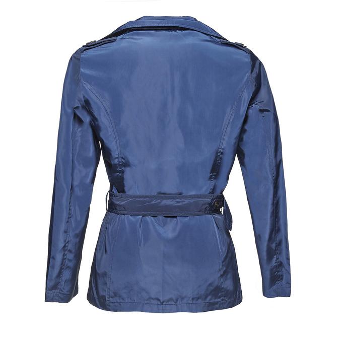 Ladies'  blue trenchcoat bata, blue , 979-9205 - 26