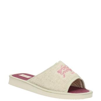Ladies' slippers bata, beige , 579-8618 - 13