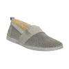 Ladies' leather slip-ons weinbrenner, gray , 513-2263 - 13