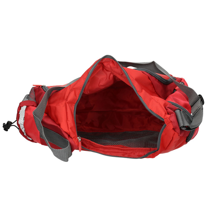 Red travel bag, red , 969-5165 - 15