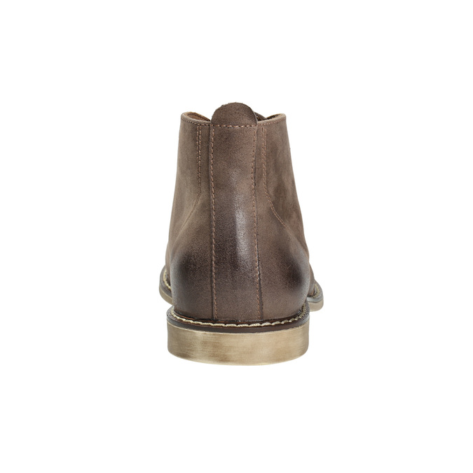 Leather ankle boots bata, brown , 826-4600 - 17