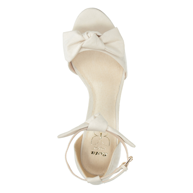 Ladies' sandals with bow insolia, beige , 769-1614 - 19