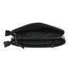 Small black handbag with flap bata, black , 961-6731 - 15