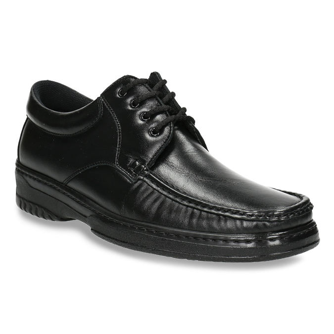 Men's shoes with stitching pinosos, black , 824-6542 - 13