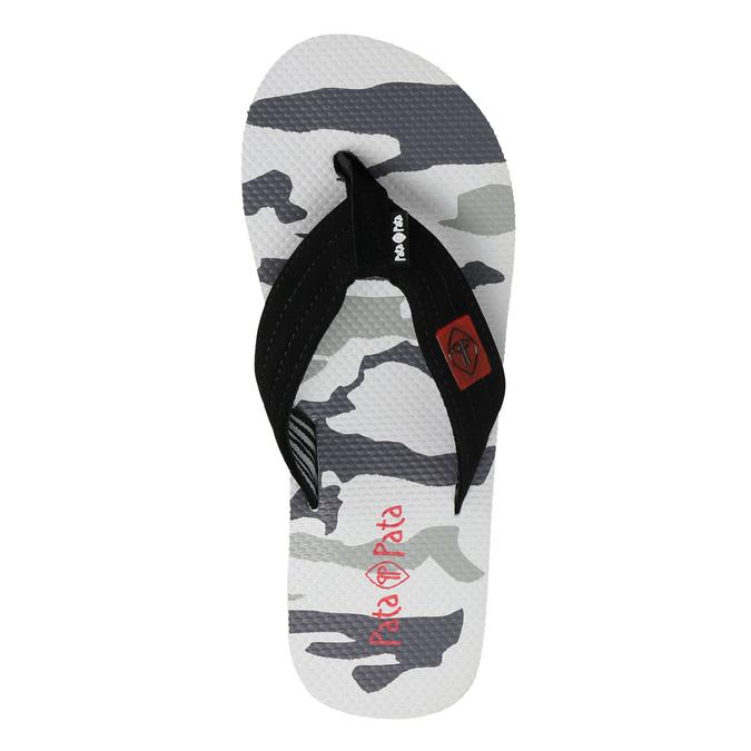 Men's camouflage flip-flops pata-pata, white , 871-1602 - 26