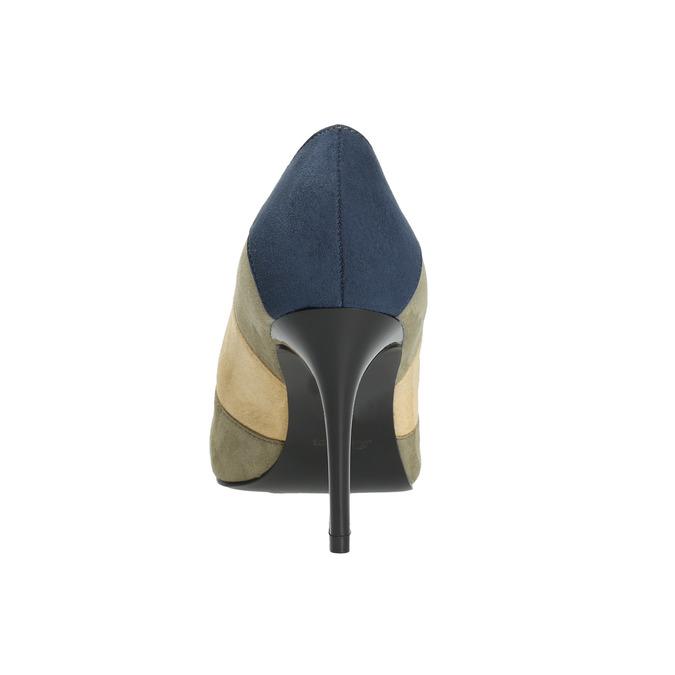 Ladies stiletto pumps insolia, blue , 729-9607 - 17