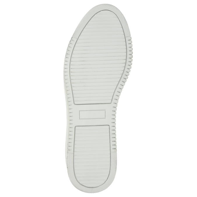 Leather ladies' sneakers with a zipper bata, white , 526-2630 - 19