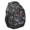 School backpack with print bagmaster, black , 969-6650 - 13