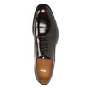 Leather Oxford shoes burgundy bata, red , 826-5671 - 15