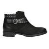 Ladies' studded high ankle boots bata, black , 596-6658 - 26