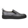 Ladies' Slip-on on black flatforms bata, gray , 516-1613 - 15