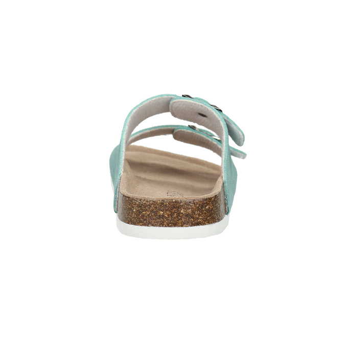 Blue leather sandals de-fonseca, turquoise, 573-7621 - 17