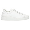 White leather sneakers bata, white , 526-1641 - 15