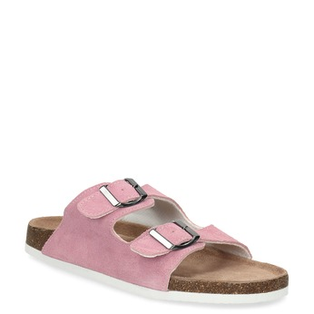 Ladies' leather sandals de-fonseca, pink , 573-5621 - 13