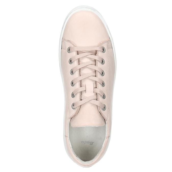 Ladies' leather sneakers bata, pink , 526-5641 - 15