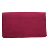 Ladies' burgundy clutch bata, red , 969-5665 - 26