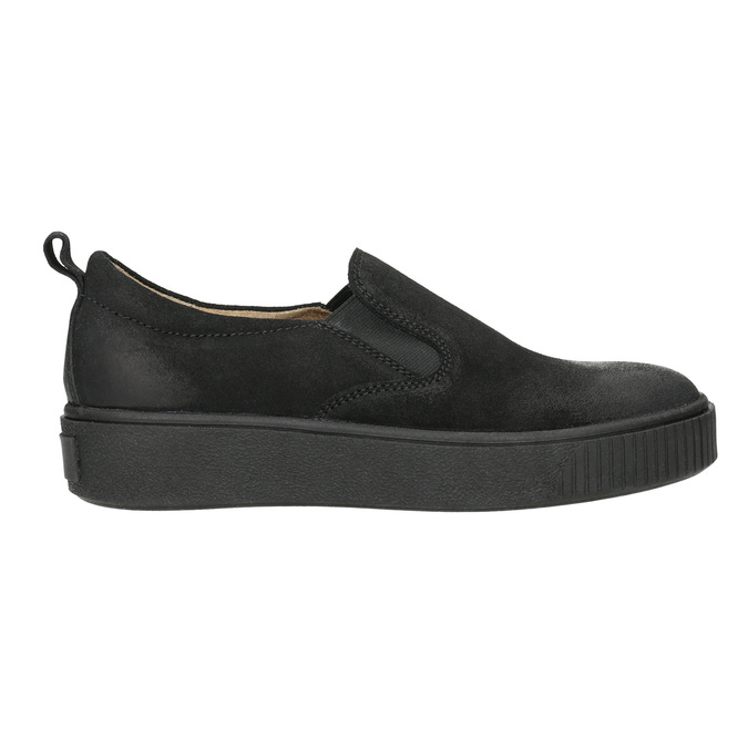 Ladies' Slip-on shoes bata, black , 516-6613 - 15