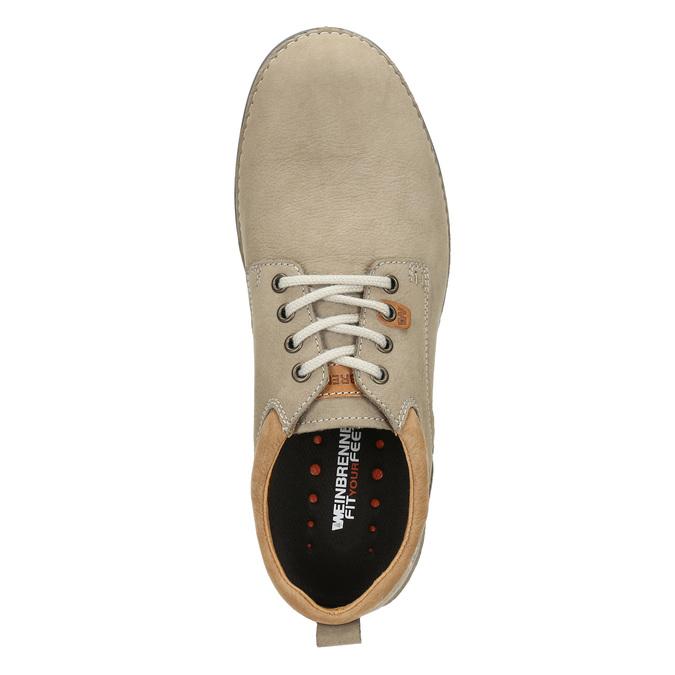 Men's leather shoes weinbrenner, beige , 846-8655 - 15