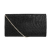 Ladies' black clutch bata, black , 969-6661 - 26