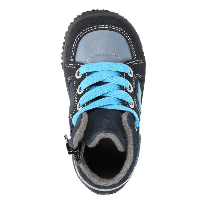 Boys' leather shoes bubblegummer, blue , 113-9601 - 19