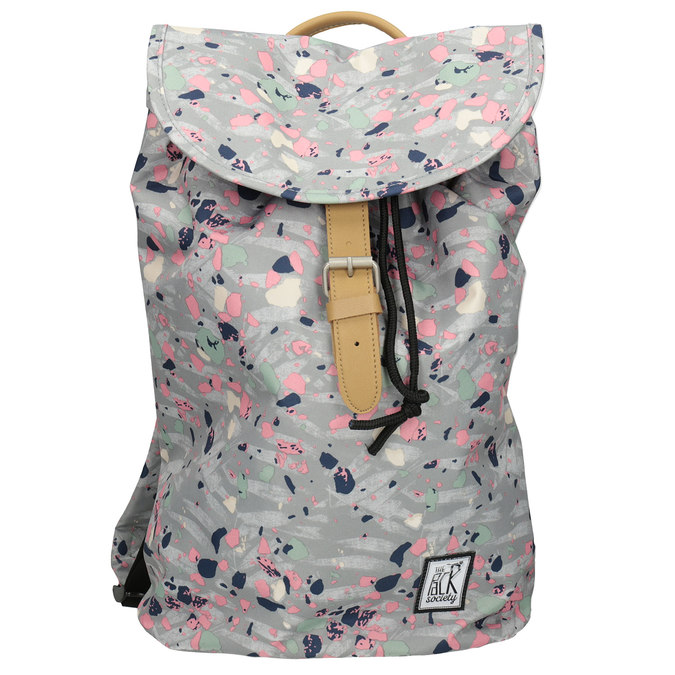 Backpack with Colourful Pattern, gray , 969-2080 - 26