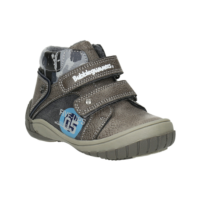Boys' ankle boots bubblegummer, gray , 111-2618 - 13