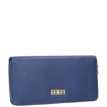Blue ladies' wallet bata, blue , 941-9180 - 13