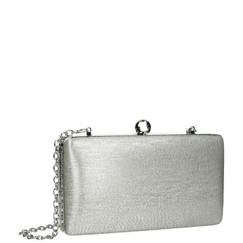 Silver clutch bag bata, silver , 969-1660 - 13