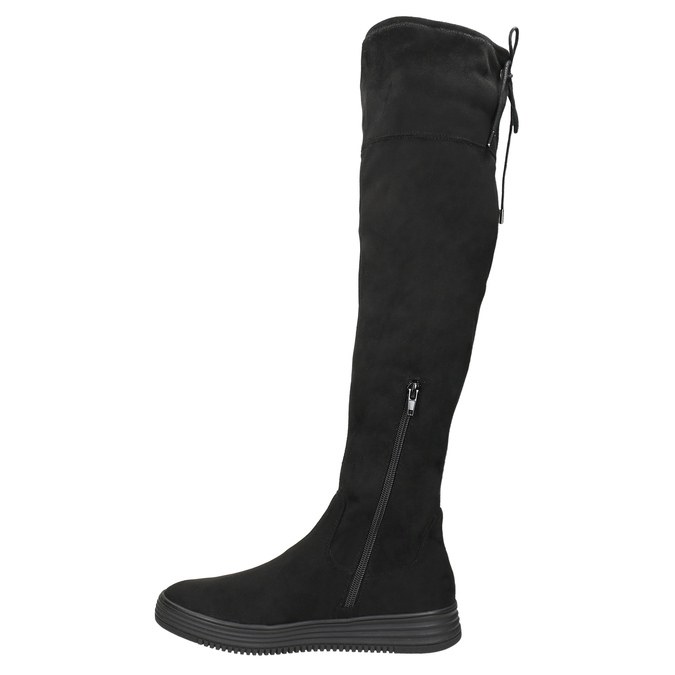 Ladies' black high boots bata, black , 699-6634 - 26