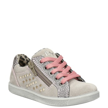 Children's studded leather sneakers mini-b, pink , 323-5173 - 13