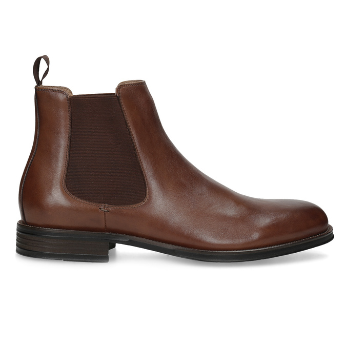 Brown leather Chelsea Boots bata, brown , 896-3400 - 19