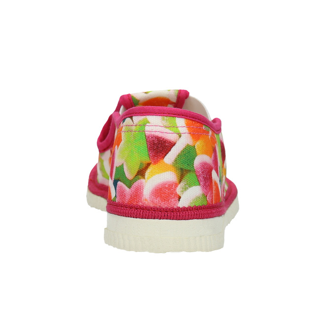 Children's patterned slip-ons bata, pink , 379-5125 - 16