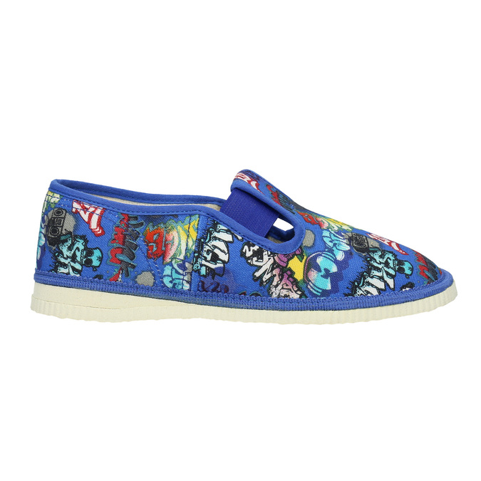 Children's blue slip-ons bata, blue , 379-9124 - 26