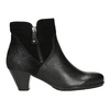 Leather Ankle Boots gabor, black , 716-6028 - 15