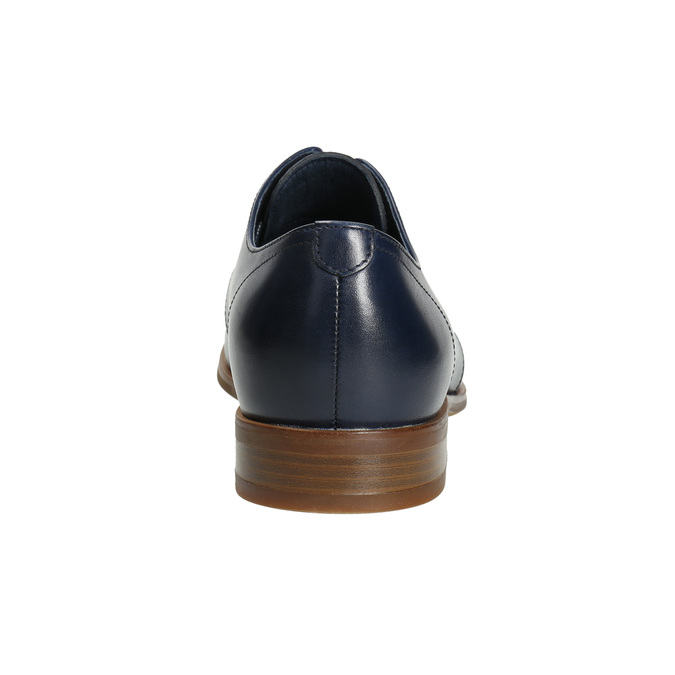 Blue leather shoes bata, blue , 826-9680 - 17