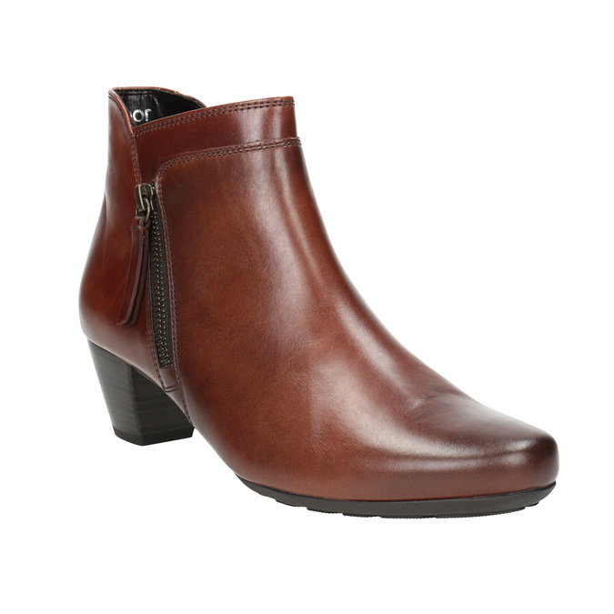 Leather Low-Heeled Ankle Boots gabor, brown , 616-3112 - 13