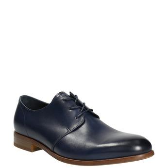 Blue leather shoes bata, blue , 826-9680 - 13