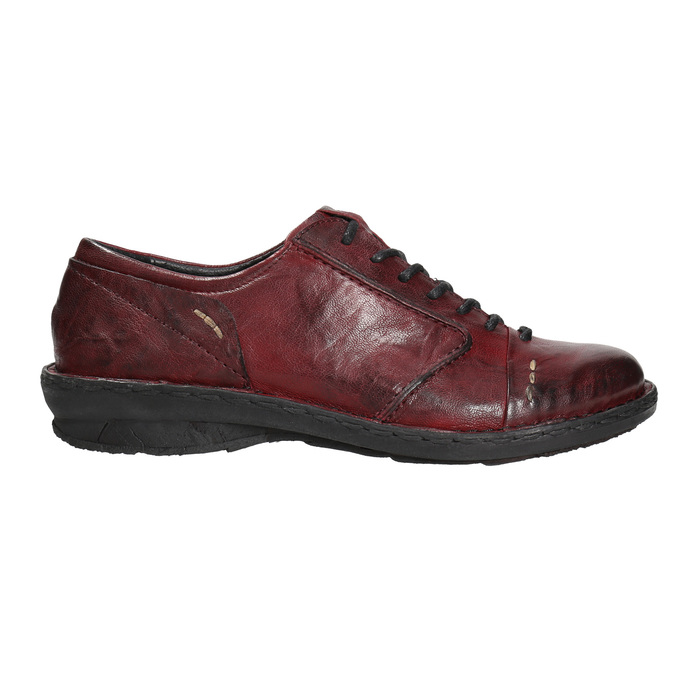 Ladies' leather shoes bata, red , 526-5640 - 15