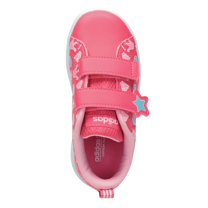 Girls' Sneakers with Printed Motif adidas, pink , 101-5533 - 15