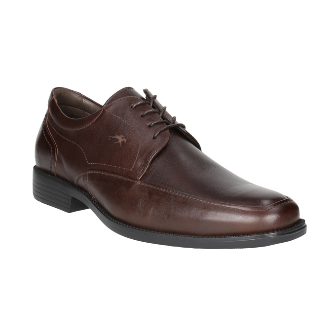 Brown Leather Derby Shoes fluchos, brown , 824-4442 - 13