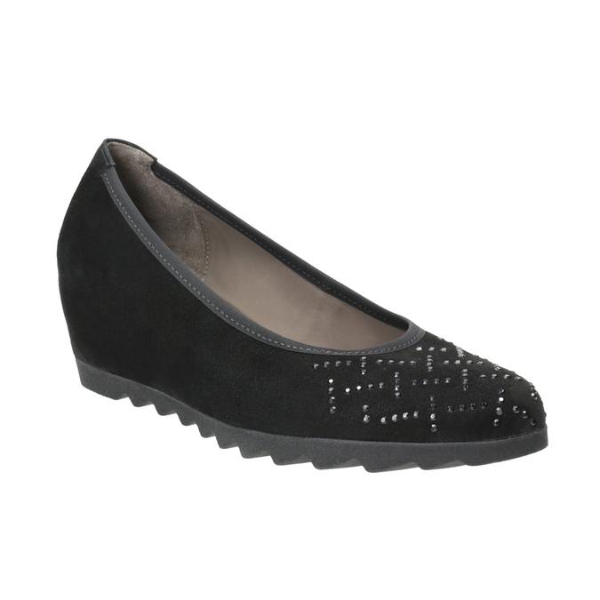 Ladies' Ballet Wedge Pumps gabor, black , 623-6027 - 13