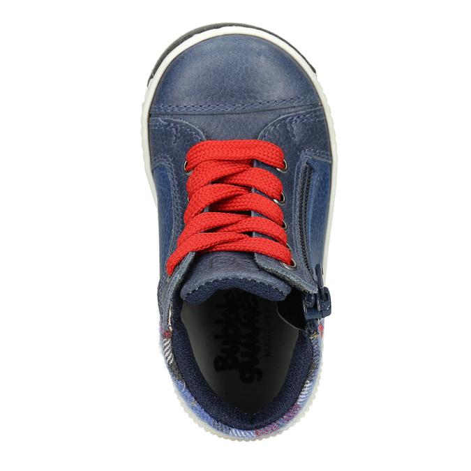 Kids' leather ankle boots bubblegummer, blue , 114-9603 - 15