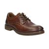 Brown stitched leather shoes bata, brown , 826-4915 - 13