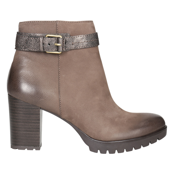 Ladies' high ankle boots with buckle bata, brown , 796-4644 - 15