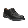 Men's leather Derby shoes bata, black , 824-6926 - 13